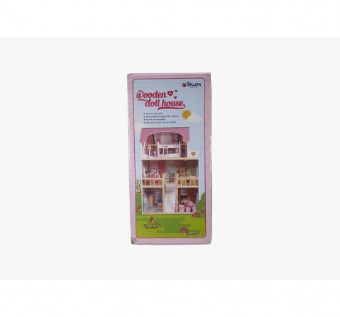 Rowan Wooden Doll House with Furniture - 18Pcs Doll House & Accessories for Girls age 3Y+