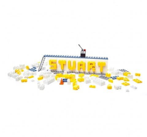 Mega Blocks Despicable Name Plate Builder, Multi Color Toddler Blocks for Kids age 6Y+