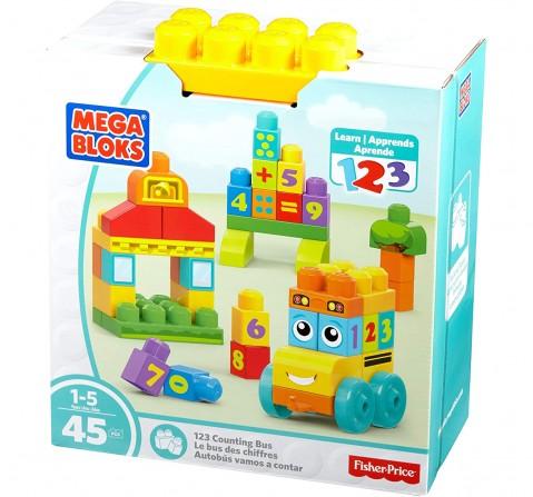 Mega Bloks Building Basics 123 Counting Bus Toddler Blocks for Kids age 1Y+