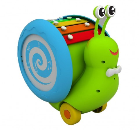 Giggles Musical Snail, Multi Color Activity Toys for Kids age 12M+