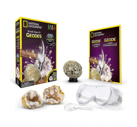 National Geographic Crack Open Geodes And Explore Crystals - Pack Of 2 for Kids age 3Y+