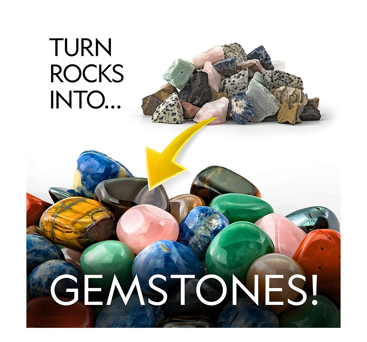 National Geographic Rough Gemstone Refill Kit For Rock Tumbler for Kids age 6Y+