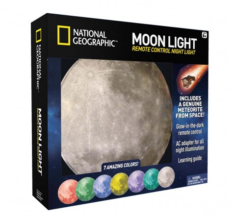 National Geographic Moon Night Light For Children with Ac Adapter & Sleep Timer Science Equipments for Kids age 8Y+