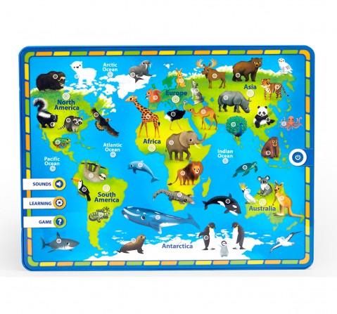 Comdaq AZ Kids' Pad My First Atlas Learning Toy for Kids age 3Y+ (Green)