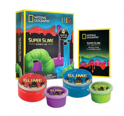 National Geographic DIY Science Lab Make Glowing Slime for Kids age 3Y+ (Blue)