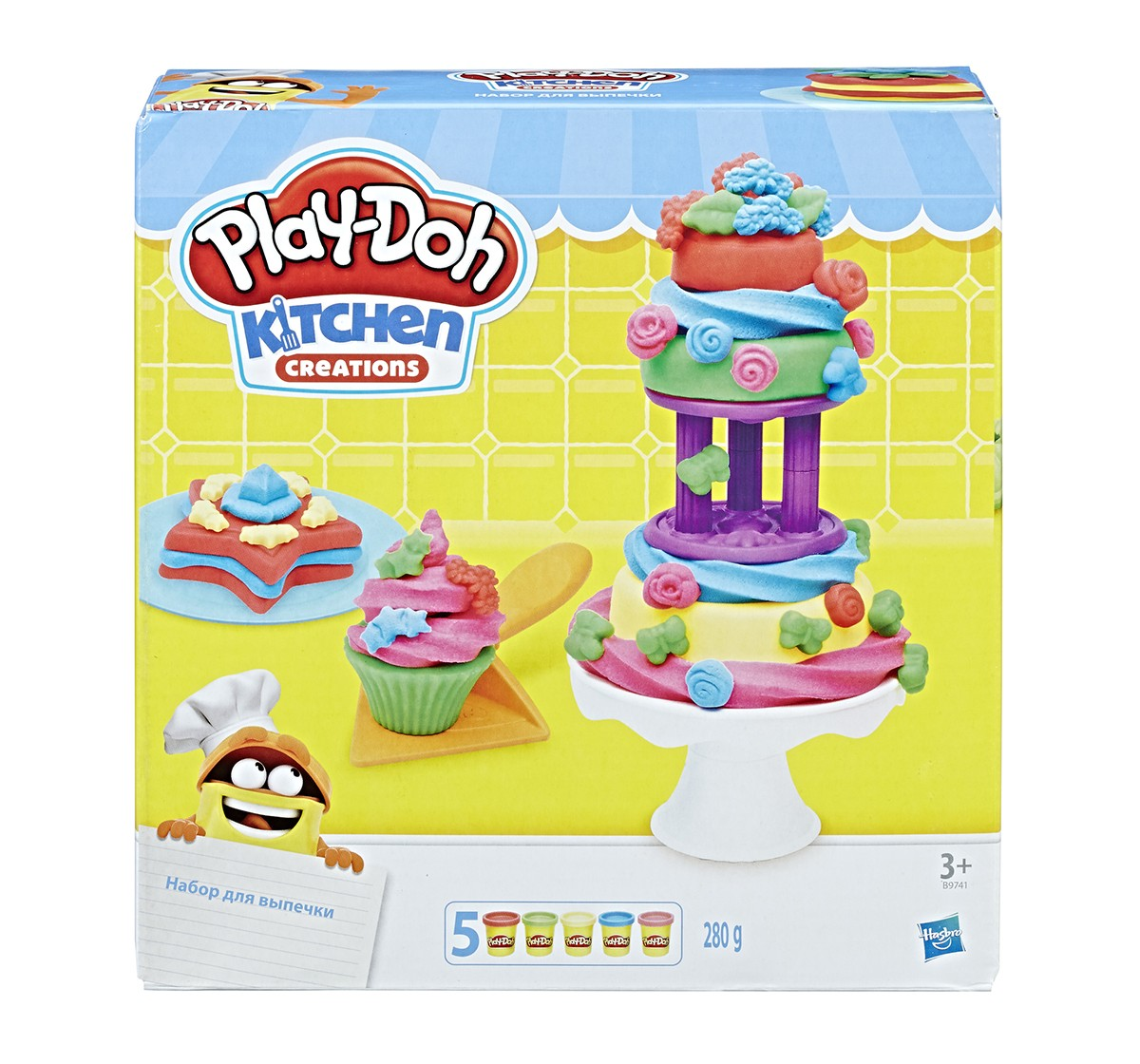 Play-Doh Kitchen Creations Frost 'n Fun Cakes  Clay & Dough for Kids age 3Y+
