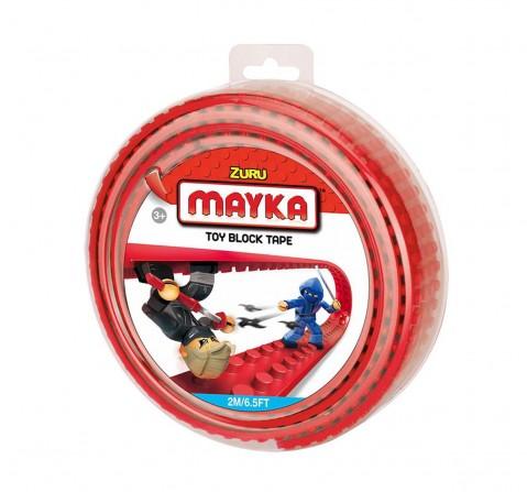 Zuru Mayka Toy Block Tape Generic Blocks for Kids age 3Y+ (Red)