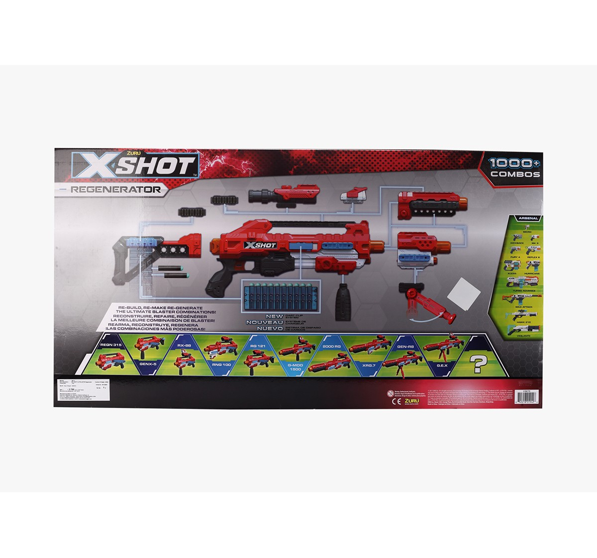X-Shot Excel Regenerator Blasters for Kids age 8Y+