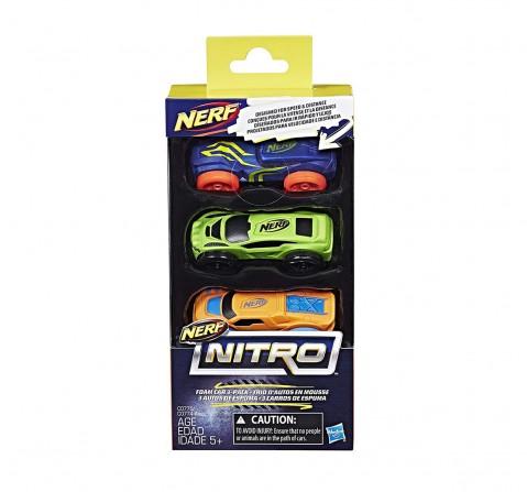 Nerf C0775 Nitro Foam Car (3-Pack) (Multicolour) Tracksets & Train Sets for Kids age 5Y+
