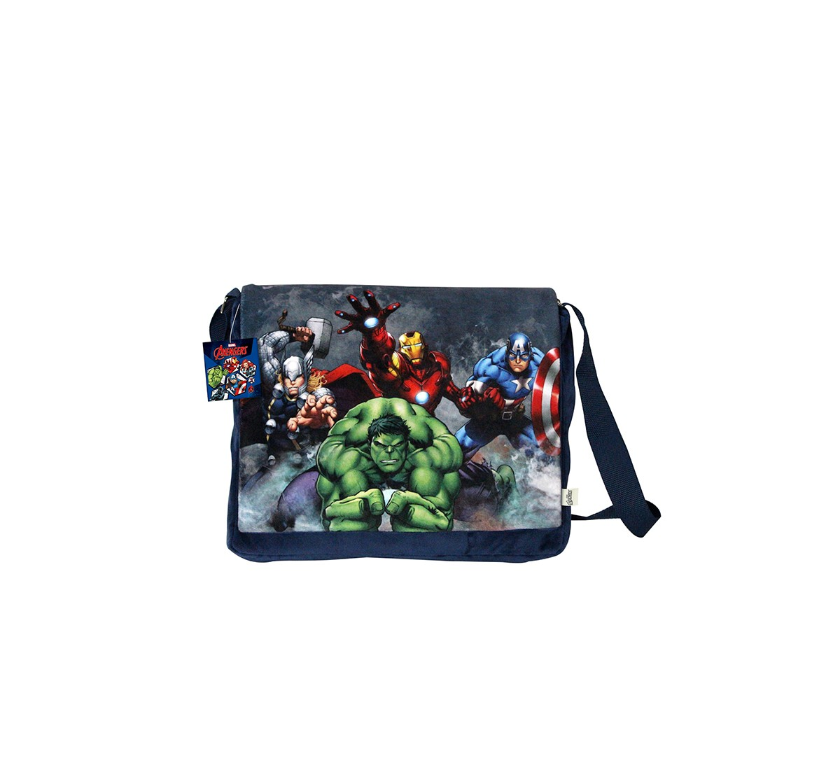 Marvel Happiness Unisex Zipper Closure Avengers Sling Bag_Multi_Free Size Plush Accessories for Kids age 12M+ - 25.4 Cm