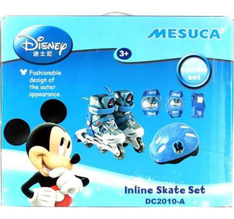 Disney Mickey Inline Skate Combo Set, Skates and Skateboards for Kids age 3Y+