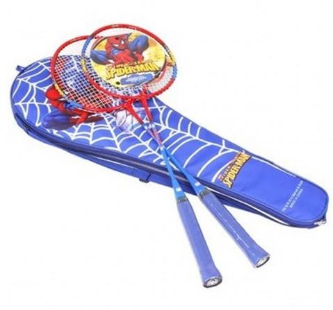 Marvel Spiderman Badminton Racket Set for Kids Outdoor Sports for Kids Age 3Y+ (Blue)
