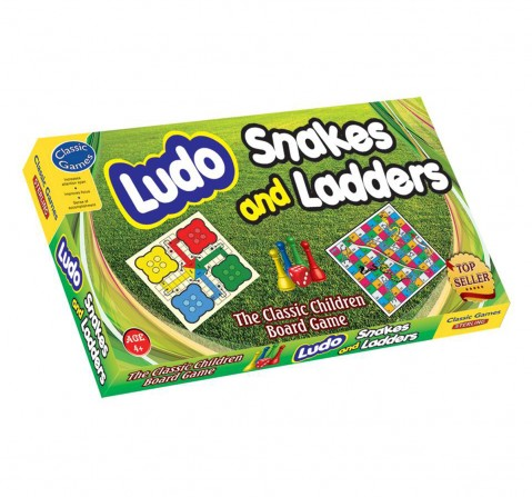 Sterling 2 In 1 Ludo Snake And Ladder Board Game, Unisex, 4Y+(Multicolour)
