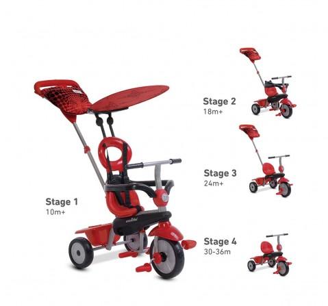 Smart Trike Vanilla 4 In 1 Baby Trike - Red Bikes for Kids age 10M+