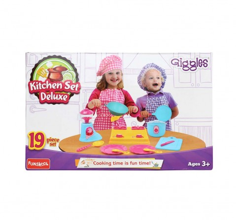 Giggles Kitchen Set Deluxe, Multi Color & Appliances for Kids age 3Y+