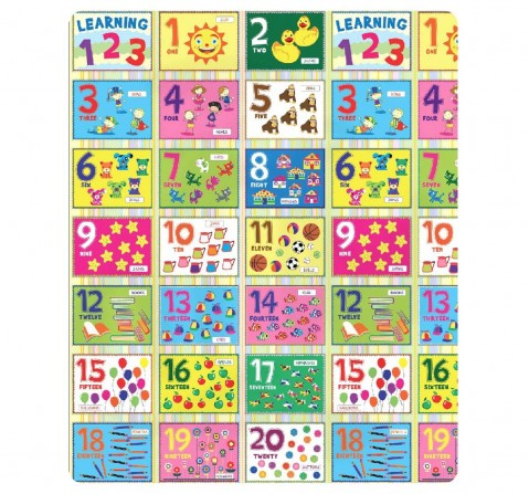 Sunta Printed Roll Mat - Number, Multi Color Baby Gear for Kids age 12M+