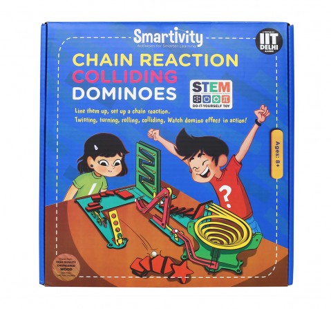 Smartivity Chain Reaction Colliding Dominoes: Stem, Learning, Educational and Construction Activity Toy for Kids age 8Y+