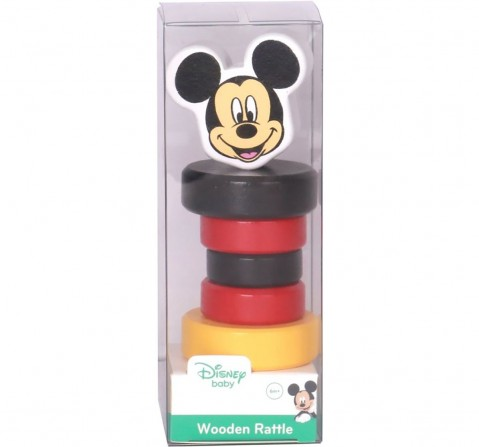 Disney Mickey Wooden Rattle for New Born Kids age 6M+