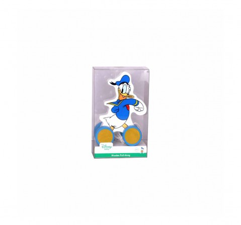 Disney Donald Pull Along Wooden Toy for Kids age 1Y+