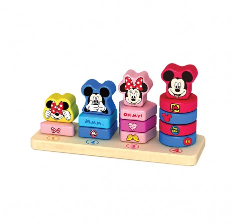 Disney Mickey & Minnie 15PC Wooden Counting Stacker for Kids age 1Y+