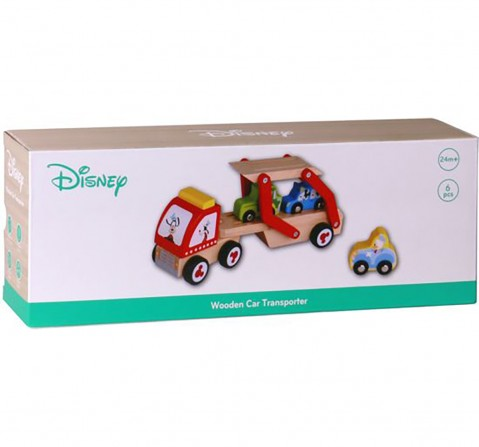 Disney Mickey 6PC Wooden Car Transporter for Kids age 2Y+