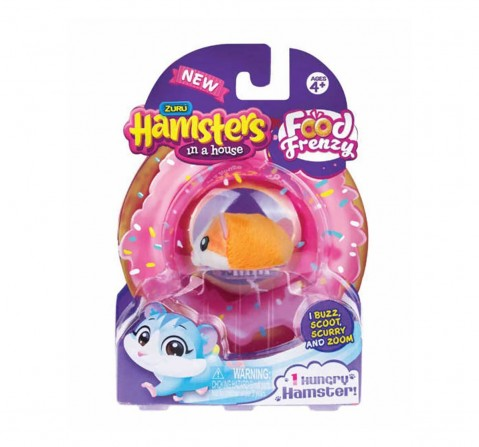 Zuru Hamsters in a House Nibbles and Chip Food Frenzy Hungry Hamster (Set of 1) Collectable Dolls for Kids age 4Y+