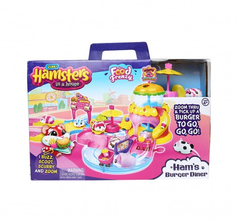 Zuru Hamsters in A House - Ham'S Burger Diner Collectable Dolls for Kids age 4Y+