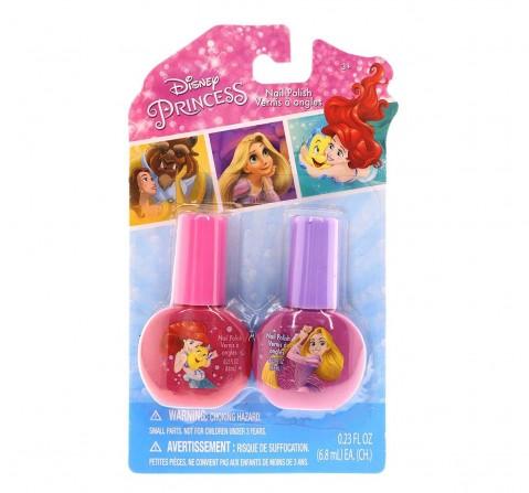 Townley Girl Disney Princess Nail Polish - Set Of 2 Pack Diy Art & Craft Kits for Kids Age 3Y+