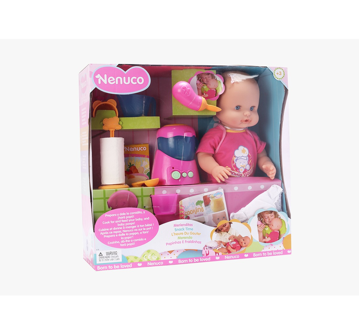 Nenuco Snack Time Doll  & Accessories for Girls age 3Y+