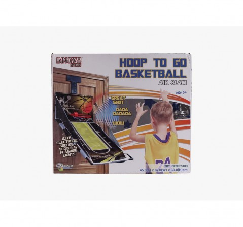Black Hostfull Hoop To Go Basketball Game Outdoor Sports for Kids age 5Y+