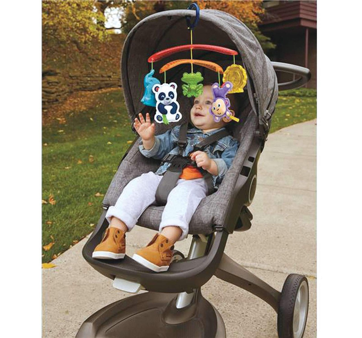 Fisher Price On-The-Go Stroller Mobile New Born for Kids age 12M+