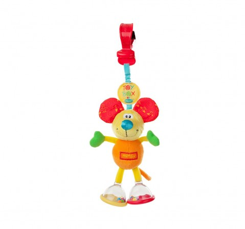 Playgro 0101141 Toy Box Dingly Dangly Mimsy, Multicolor New Born for Kids age 0M+