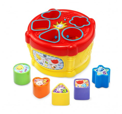 V-Tech  Sort & Discover Drum Musical Toys for Kids age 12M+ (White)