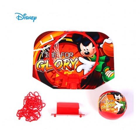 Disney Mickey Basketball Hoop Backboard Set Outdoor Sports for Kids Age 3Y+ (Red)