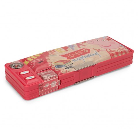 Peppa Loves Scrapbook Pink 2 Button Pencil Box, 2Y+