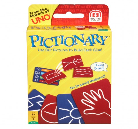 Mattel Games Pictionary Card Game Games for Kids age 7Y+