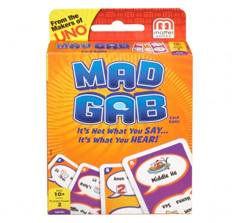 Mattel Mad Gab Card Game Games for Kids age 7Y+