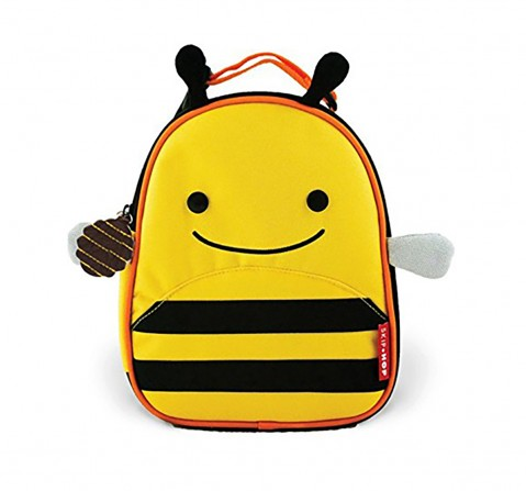 Skip Hop Zoo Insulated Waterproof Lunch Carry Bag -  Bee New Born for Kids age 3Y+