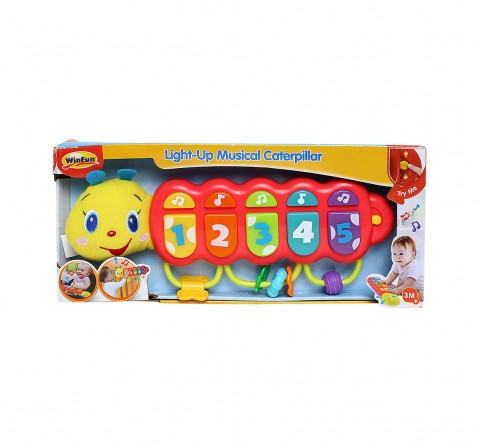 Winfun Pull Along Caterpillar Musical Toys for Kids age 3M+
