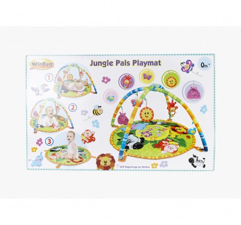 Winfun Jungle Pals Playmat Baby Gear for Kids age 0M+