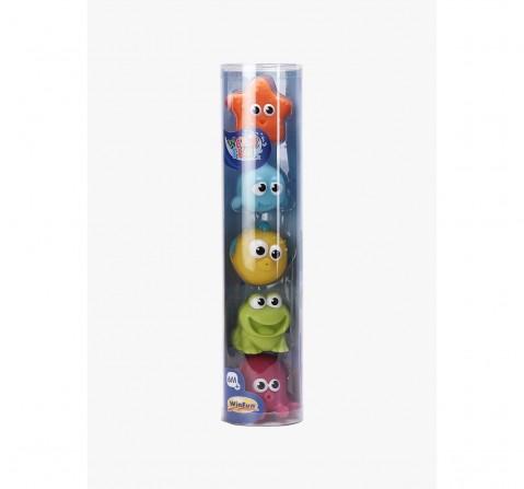 Winfun Splash 'N Squirt Bathtime Pals 5 Pcs Toys & Accessories for Kids age 6M+