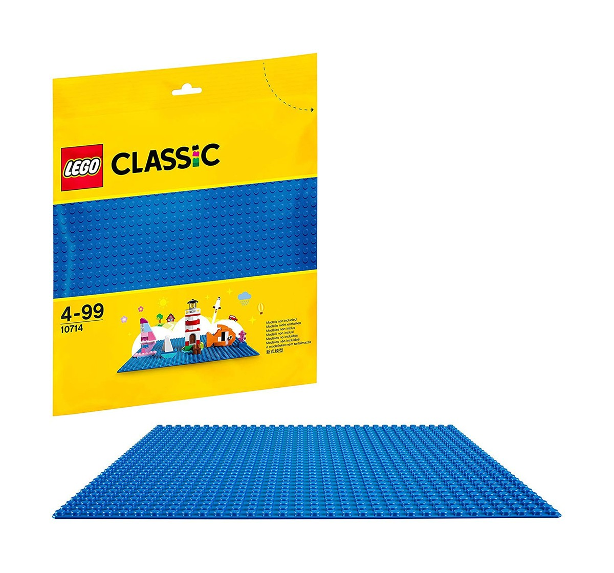 Lego Classic  Baseplate Supplement 10714  Blocks for Kids age 4Y+ (Blue)