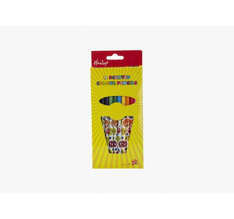 Hamleys Scented Coloured Pencils - 12Pcs School Stationery for Kids age 3Y+