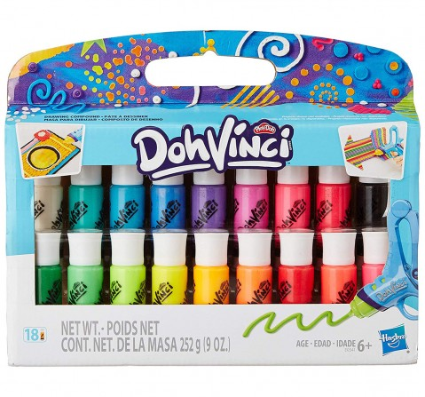 Play-Doh DohVinci 18-Pack Drawing Compound  Clay & Dough for Kids age 4Y+