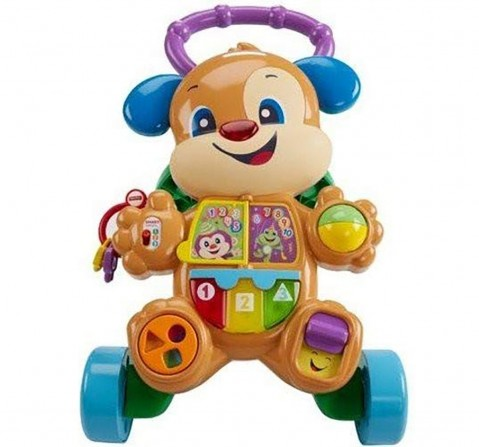 Fisher Price Laugh And Learn Smart Stages Learn With Puppy Walker, Multi Color Baby Gear for Kids age 6M+