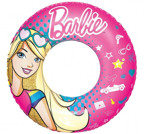 Bestway Barbie Bestway Baby Swim Float Swim Ring Vinyl Multi Color Play Anywhere Pool Swimming | Colourful Ring | Age: 3+ Years Outdoor Leisure for Kids age 3Y+