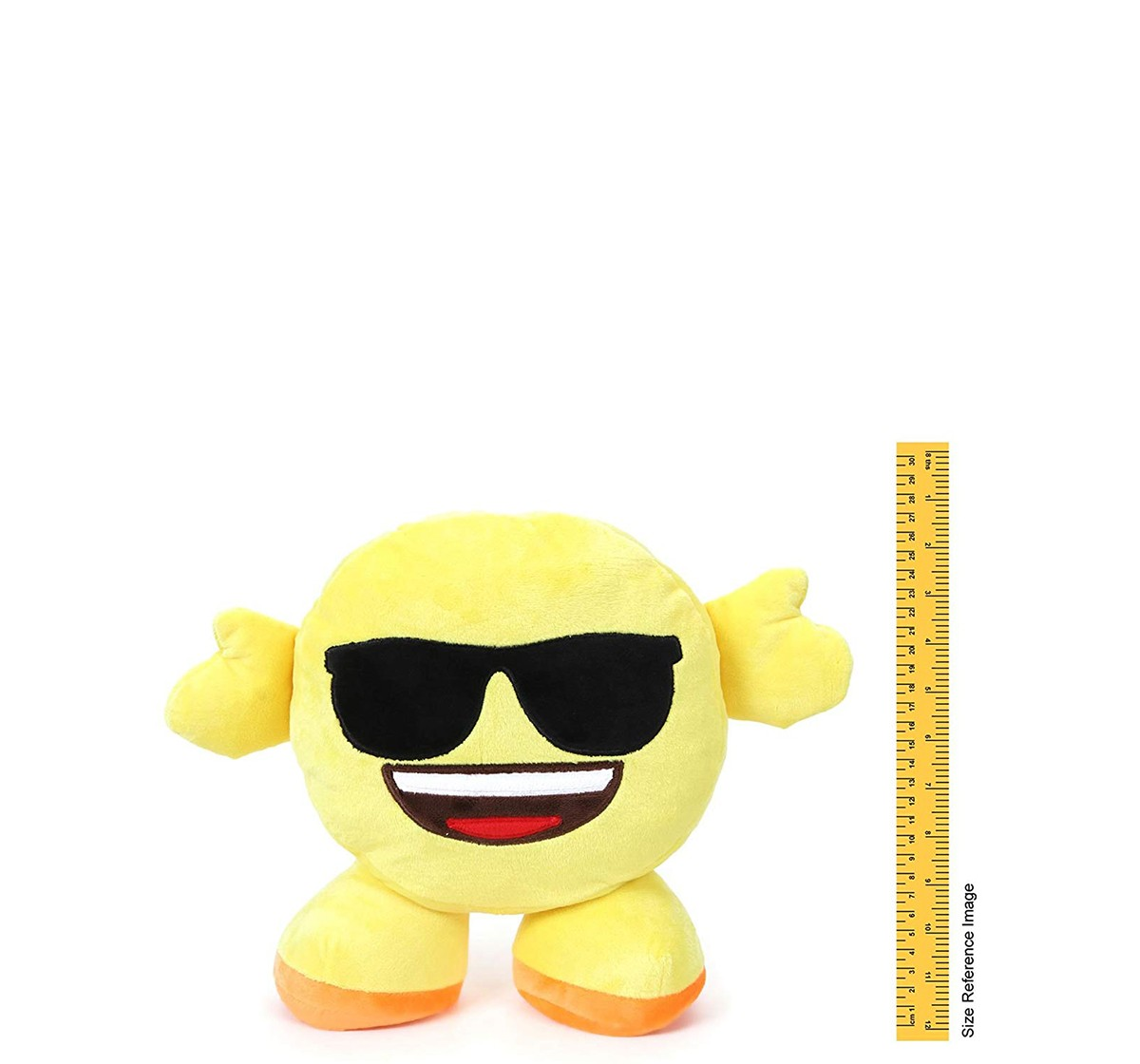 My Baby Excel Standing Emoji Plush Accessories for Kids age 0M+ - 30 Cm (Yellow)