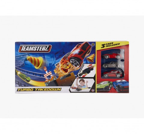 Hti Teamsterz Turbo Takedown 3 Cars Tracksets & Train Sets for Kids age 3Y+