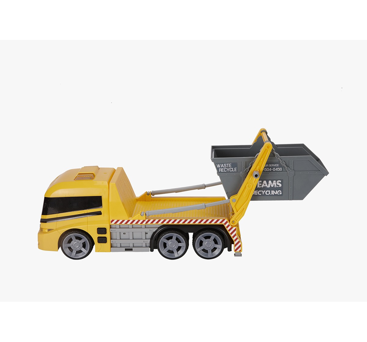 Hti Teamsterz Skip Lorry Truck With Lights And Sounds Skip Lorry Truck Toy For Toddlers And Young Kids T Vehicles for Boys age 3Y+ (Yellow)