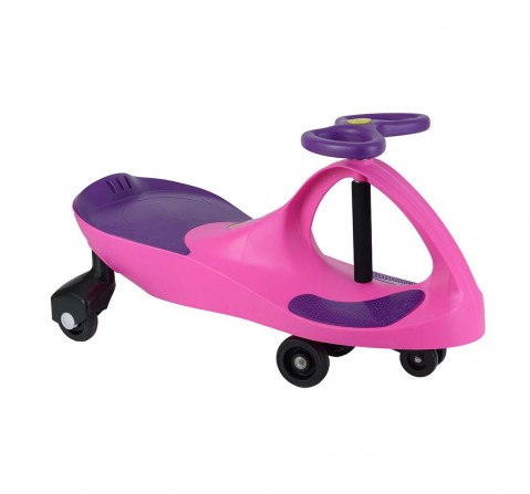 Leibei Swing Car With Led Lights -Pink Swing Cars for Kids age 5Y+